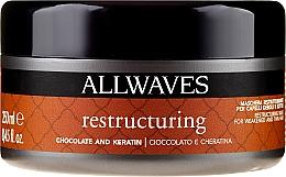Kup Restrukturyzująca maska do włosów Czekolada i keratyna - Allwaves Chocolate And Keratin Restructuring Mask