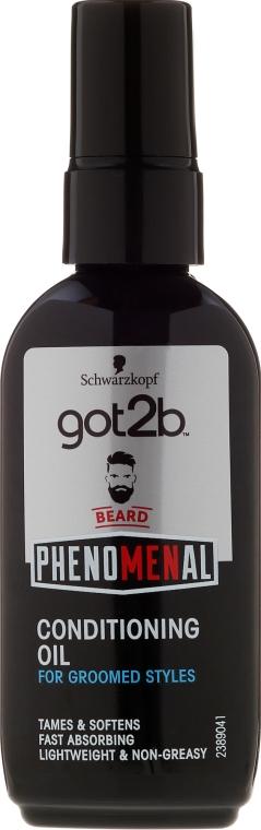 Olejek do brody - Schwarzkopf Got2b Phenomenal Beard Conditioning Oil
