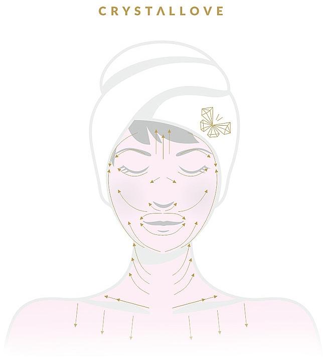 Masażer do twarzy z czarnego obsydianu - Crystallove Obsidian Roller — фото N3
