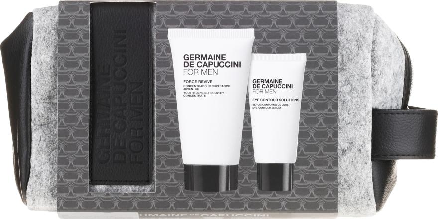 Zestaw dla skóry matowej i znaieczyszczonej - Germaine de Capuccini For Men (f/concentrate/50ml + eye/ser/15ml) — фото N1