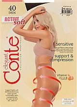 "Kup Rajstopy ""Active Soft"" 40 DEN, mocca - Conte"