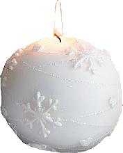 Kup Świeca dekoracyjna, kula, biała, 10 cm - Artman Snowflakes Application