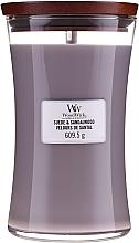 Kup Świeca zapachowa w szkle - WoodWick Suede & Sandalwood Candle