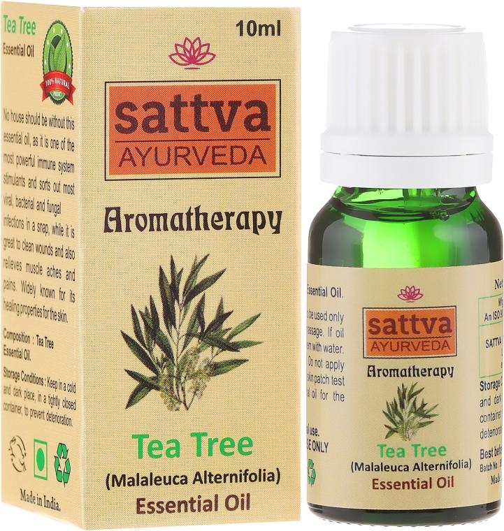 Olejek z drzewa herbacianego - Sattva Ayurveda Aromatherapy Tea Tree Essential Oil — фото N1