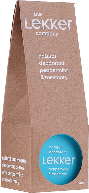 Naturalny dezodorant w kremie Mięta i rozmaryn - The Lekker Company Natural Deodorant