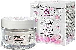 Kup Krem do twarzy na noc z olejkiem różanym i jagodam goji - Bulgarian Rose Rose Berry Nature Night Cream