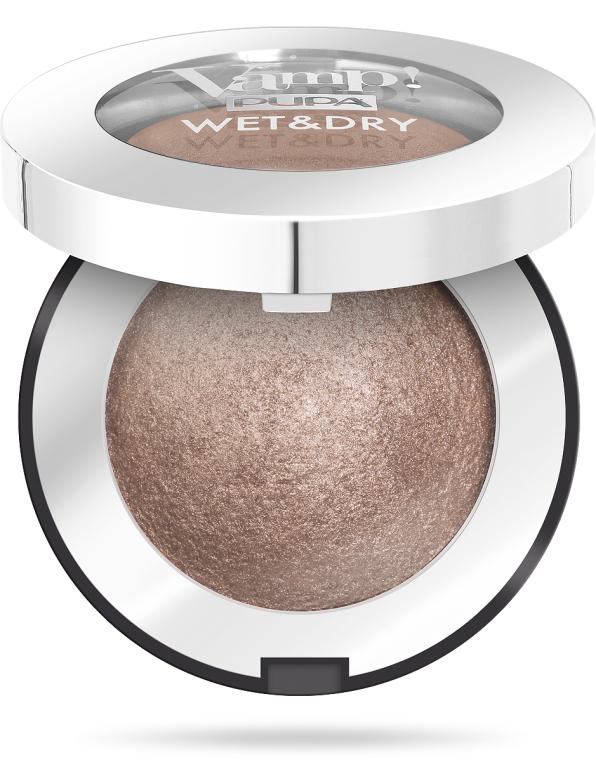 Wypiekane cienie do powiek do stosowania na sucho i mokro - Pupa Vamp! Wet & Dry Eyeshadow