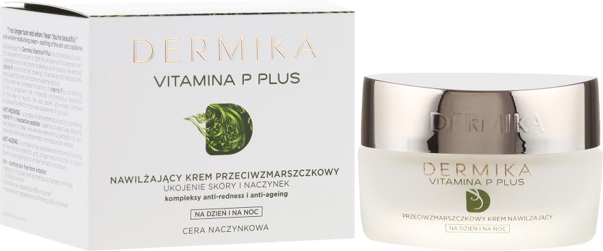 Nawilżający krem przeciwzmarszczkowy Ukojenie skóry i naczynek - Dermika Vitamina P Plus Face Cream