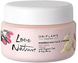 Kup Odżywczy krem do twarzy z organicznym owsem i owocami goji - Oriflame Love Nature Nourishing Face Cream