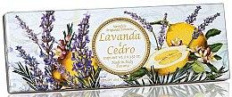 Kup Zestaw naturalnych mydeł w kostce Cedr i lawenda - Saponificio Artigianale Fiorentino Capri Lavender & Cedar (3 x soap 100 g)