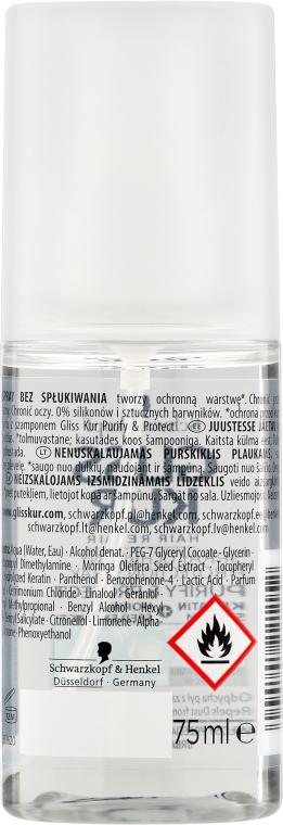 Ochronny spray do przetłuszczającej się skóry głowy i włosów zmęczonych miejskim powietrzem - Schwarzkopf Gliss Kur Purify & Protect Spray — фото N2