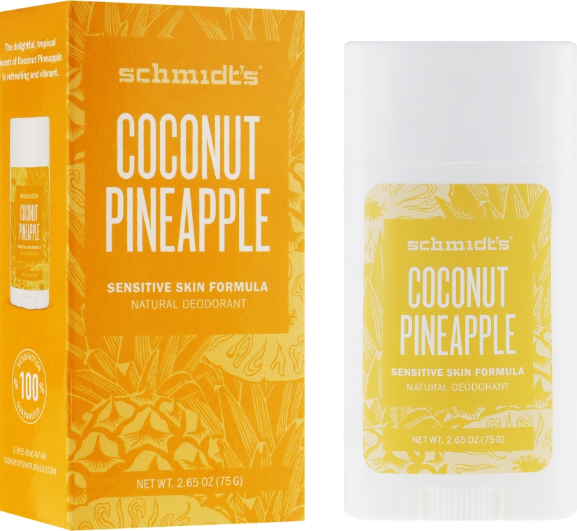 Naturalny dezodorant w sztyfcie Kokos i ananas - Schmidt's Natural Deodorant Coconut Pineapple