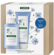 Kup Zestaw - Klorane Flax Fiber (shmp 200 ml + cond 200 ml)