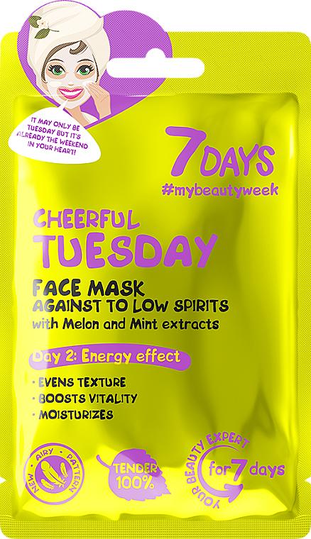 Energizująca maseczka do twarzy - 7 Days Cheerful Tuesday — фото N1