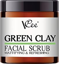 Kup Peeling do twarzy z zieloną glinką - VCee Green Clay Facial Scrub Mattifying&Refreshing