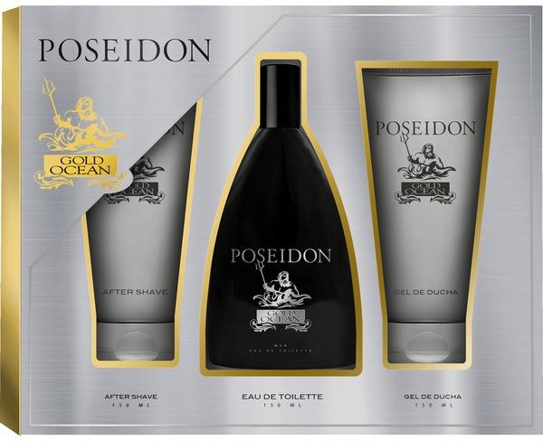 Zestaw dla mężczyzn - Instituto Español Poseidon Gold (edt 150 ml + ash/balm 150 ml + sh/gel 150 ml) — фото N1