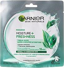 Kup Nawilżająca maska odświeżająca na tkaninie do twarzy - Garnier Skin Naturals Moisture + Freshness