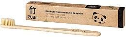 Kup Bambusowa szczoteczka do zębów z miękkim włosiem, beżowa - Zuzii Soft Toothbrush