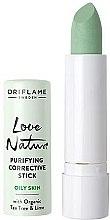 Kup Oczyszczający korektor w sztyfcie do skóry tłustej z organicznym drzewem herbacianym i limonką - Oriflame Love Nature Purifying Corrective Stick