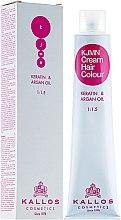 Kup Profesjonalny krem koloryzujący do włosów Keratyna i olej arganowy - Kallos Cosmetics Cream Hair Colour