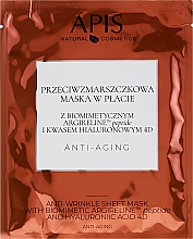Kup Przeciwzmarszczkowa maska w płachcie - APIS Professional Anti-Aging Anti-Wrinkle Sheet Mask