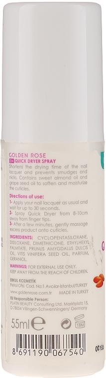 Utrwalacz do paznokci - Golden Rose Nail Quick Dryer Spray — фото N2