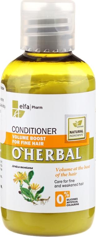 Odżywka z ekstraktem z arniki zwiększająca objętość włosów cienkich - O'Herbal