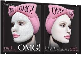 Kup Dwuetapowa oczyszczająca maska do twarzy - Double Dare OMG! 2in1 Kit Detox Bubbling Microfiber Mask