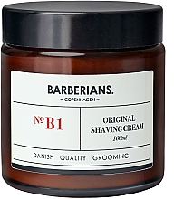 Kup Krem do golenia zapobiegający podrażnieniom - Barberians. №B1 Shaving Cream