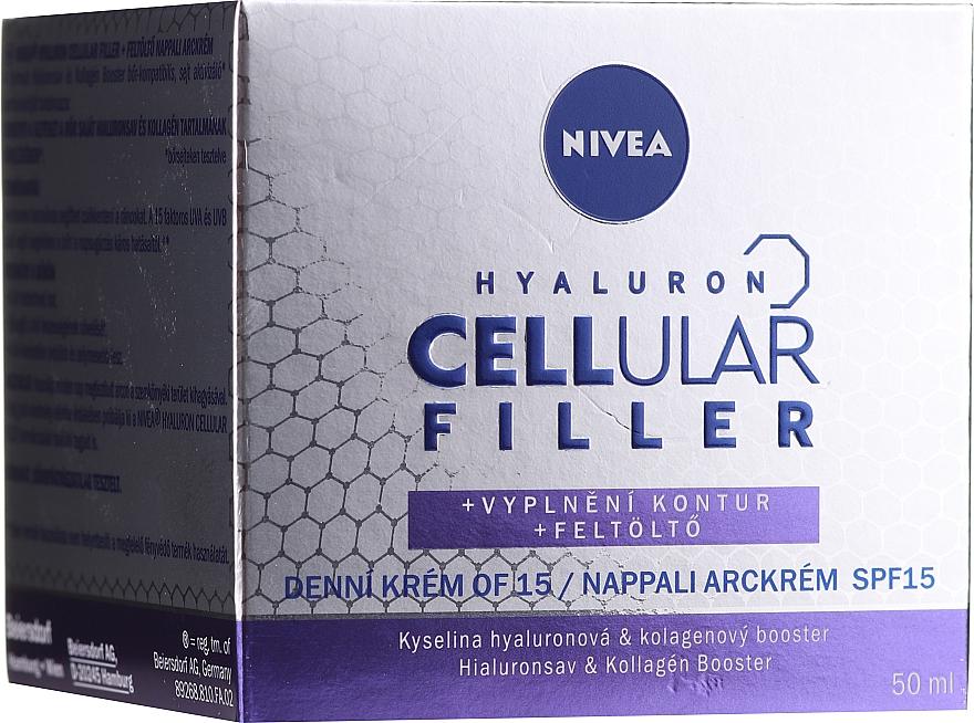 Przeciwzmarszczkowy krem na dzień Modelowanie owalu twarzy - Nivea Hyaluron Cellular Filler SPF15  — фото N1