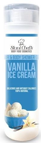 Naturalny żel pod prysznic do ciała i włosów Lody waniliowe - Stani Chef's Hair And Body Hair & Body Shower Gel Vanilla Ice Cream — фото N1