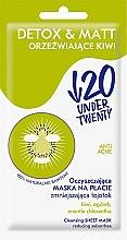 Kup Oczyszczająca maska na płacie zmniejszająca łojotok - Under Twenty Anti! Acne Detox & Matt Face Mask