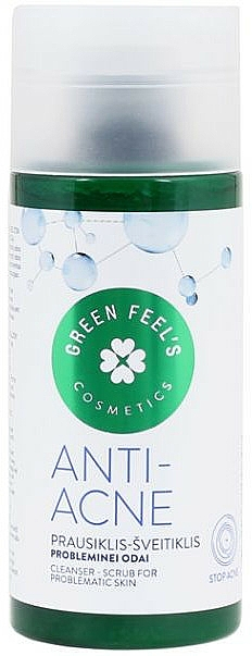 Peeling do skóry problematycznej - Green Feel's Anti Acne Cleancer Scrub — фото N1