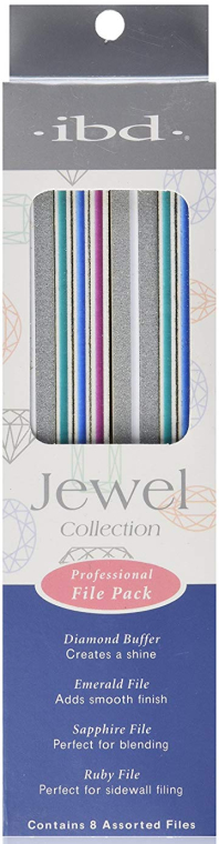 Zestaw pilników do paznokci - IBD Jewel Collection Professional File Pack — фото N1