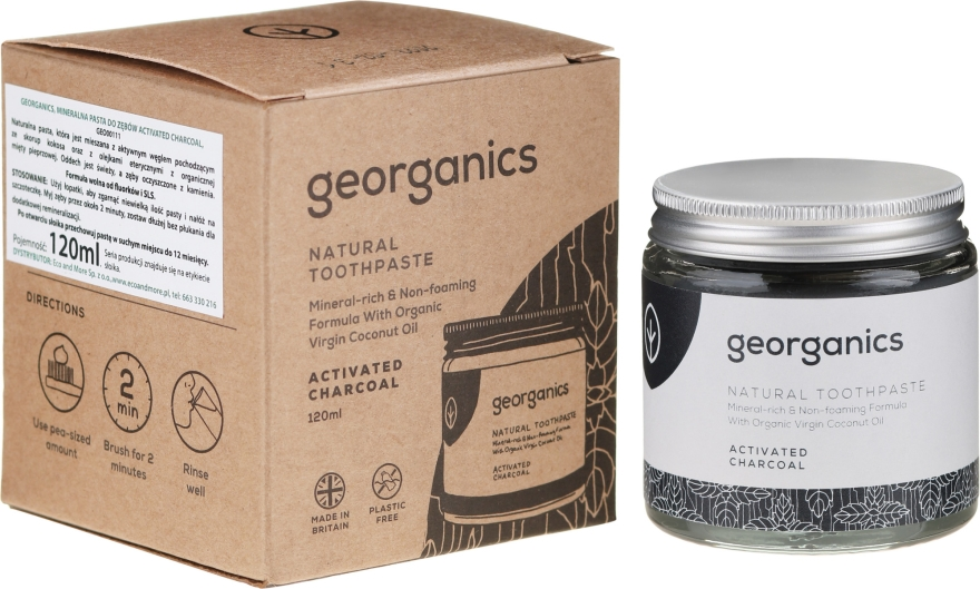 Naturalna pasta do zębów - Georganics Activated Charcoal Natural Toothpaste — фото N3