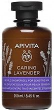 Kup Żel pod prysznic z olejkami eterycznymi Lawenda - Apivita Caring Lavender Shower Gel For Sensitive Skin
