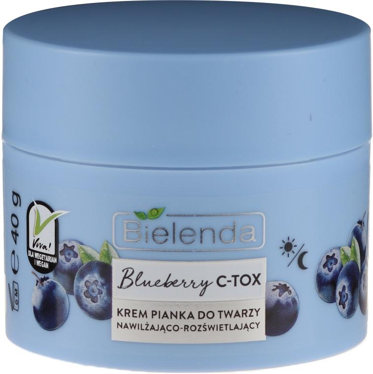 Nawilżająco-rozświetlający krem-pianka do twarzy - Bielenda Blueberry C-Tox Face Cream — фото N2
