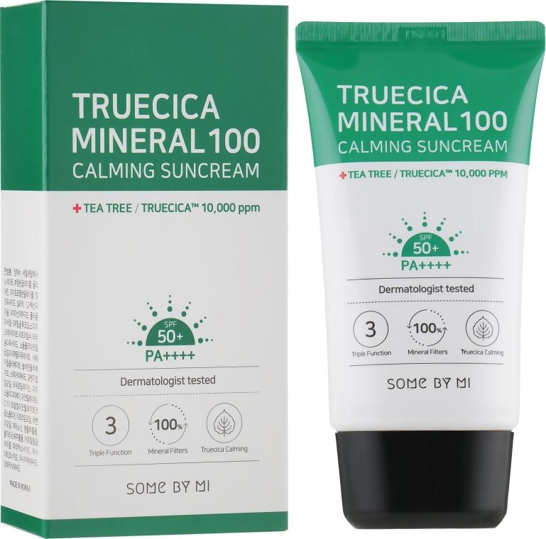 Krem ochronny z filtrem SPF 50 PA++++ - Some By Mi Truecica Mineral 100 Calming Suncream