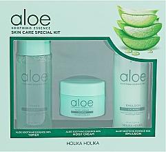 Kojący zestaw do pielęgnacji twarzy - Holika Holika Aloe Skin Care Special Set (toner 50 ml + emulsion 50 ml + cr 20 ml) — фото N1