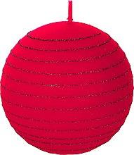 Kup Świeca dekoracyjna, 8 cm, Czerwona kula - Artman Andalo