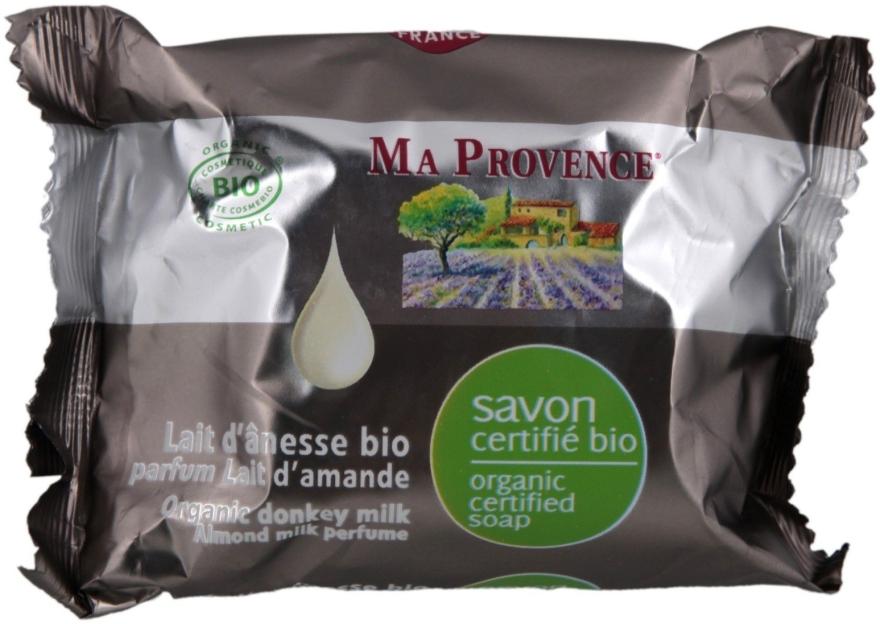 Organiczne mydło w kostce z oślim mlekiem o zapachu mleczka migdałowego - Ma Provence Organic Soap — фото N1