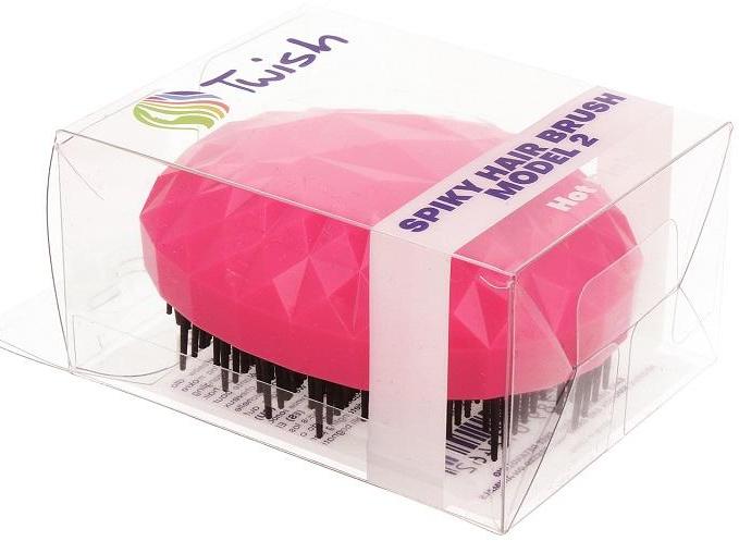 Szczotka do włosów, malinowa - Twish Spiky 2 Hair Brush Hot Pink