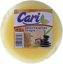 Kup Okrągła masażowa gąbka do kąpieli, 98553, żółto-biała - Cari