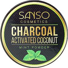 Kup PRZECENA! Miętowy wybielający proszek z węglem kokosowym do zębów - Sanso Cosmetics Charcoal Activated Coconut Mint Powder *