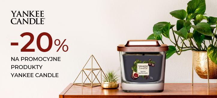 Zniżka 20% na promocyjne produkty Yankee Candle. Сeny uwzględniają zniżkę.