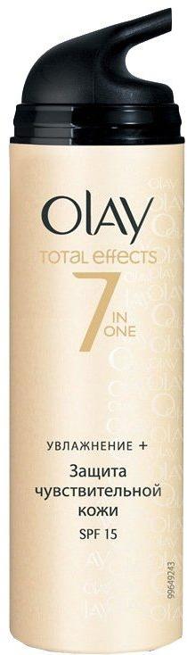 Nawilżajacy krem na dzień - Olay Total Effects Day Cream Sensitive SPF15 — фото N1