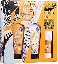 Kup Zestaw - Dirty Works Happy Naturals (sh/gel/100ml + b/butter/100ml + scrub/100ml + flannel/towel)