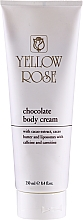 Kup Czekoladowy tonizujący krem do masażu ciała - Yellow Rose Chocolate Body Cream