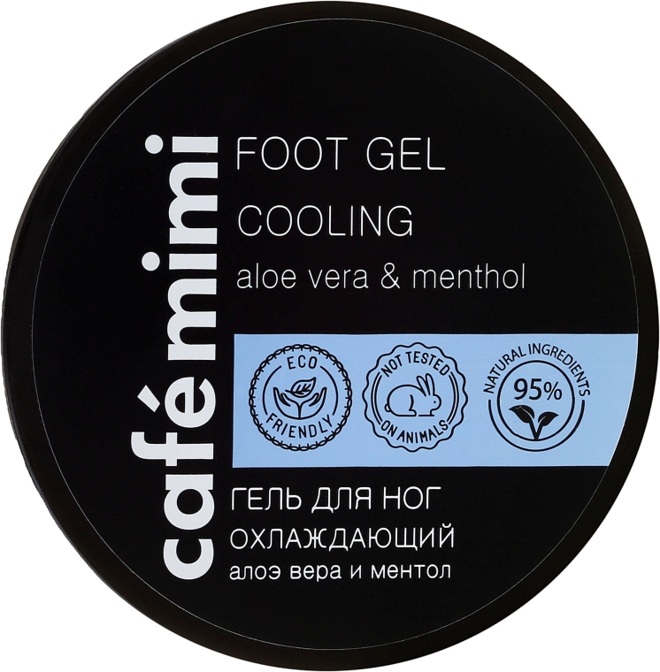 Ochładzający żel do stóp - Cafe Mimi Foot Gel Cooling Aloe Vera & Menthol — фото N2