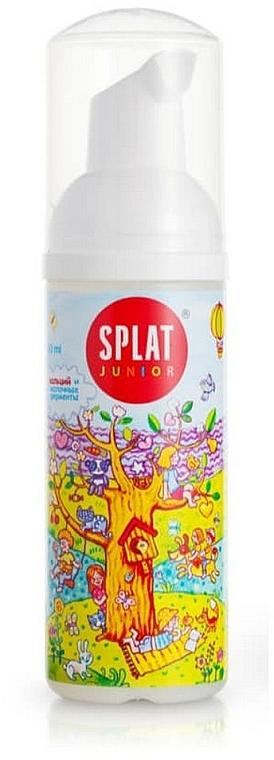 Ochronna pianka pielęgnacyjna z enzymami wapnia i mleka dla dzieci - SPLAT Junior Magic Oral Care Foam — фото N1